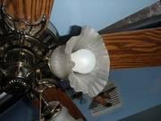 Hunter Vintage Traditional Victorian Ceiling Fan & Light Fixture