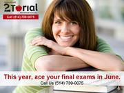 June Exams Preparation Montreal 514-739-0075
