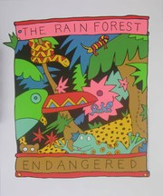 The Rain Forest Endangered Species,  Original Silkscreen